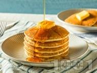 Постни американски палачинки с царевично нишесте и брашно